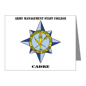 AMSCC - M01 - 02 - DUI - Army Management Staff College Cadre with Text - Note Cards (Pk of 20)