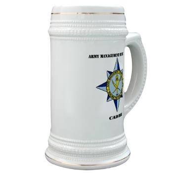 AMSCC - M01 - 03 - DUI - Army Management Staff College Cadre with Text - Stein