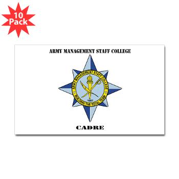 AMSCC - M01 - 01 - DUI - Army Management Staff College Cadre with Text - Sticker (Rectangle 10 pk)