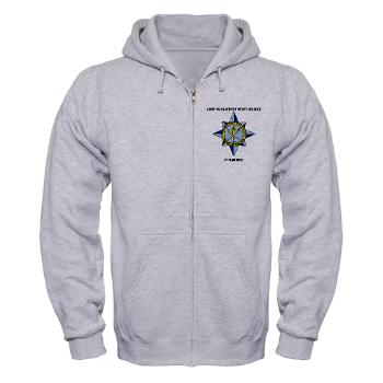 AMSCC - A01 - 03 - DUI - Army Management Staff College Cadre with Text - Zip Hoodie