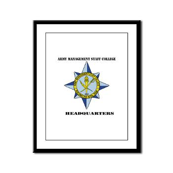 AMSCC - M01 - 02 - DUI - Army Management Staff College Headquarters with Text - Framed Panel Print