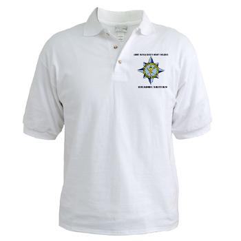 AMSCC - A01 - 04 - DUI - Army Management Staff College Headquarters with Text - Golf Shirt