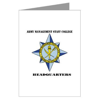 AMSCC - M01 - 02 - DUI - Army Management Staff College Headquarters with Text - Greeting Cards (Pk of 10)