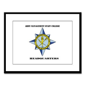 AMSCC - M01 - 02 - DUI - Army Management Staff College Headquarters with Text - Large Framed Print