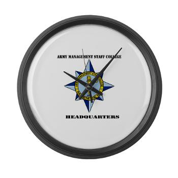AMSCC - M01 - 03 - DUI - Army Management Staff College Headquarters with Text - Large Wall Clock