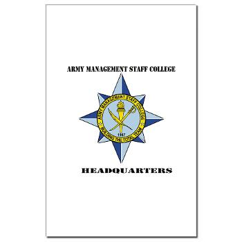AMSCC - M01 - 02 - DUI - Army Management Staff College Headquarters with Text - Mini Poster Print