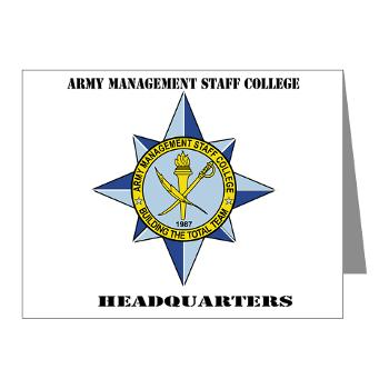 AMSCC - M01 - 02 - DUI - Army Management Staff College Headquarters with Text - Note Cards (Pk of 20)