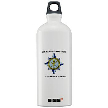 AMSCC - M01 - 03 - DUI - Army Management Staff College Headquarters with Text - Sigg Water Bottle 1.0L