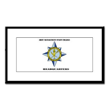AMSCC - M01 - 02 - DUI - Army Management Staff College Headquarters with Text - Small Framed Print