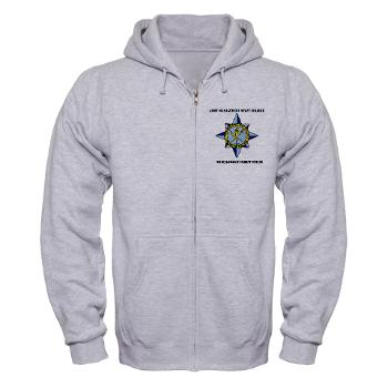 AMSCC - A01 - 03 - DUI - Army Management Staff College Headquarters with Text - Zip Hoodie