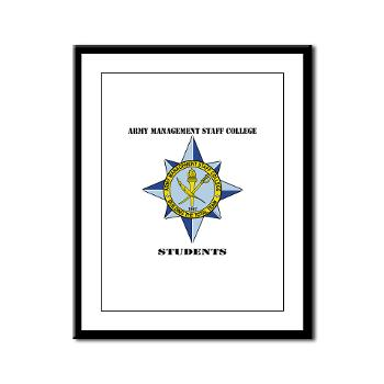 AMSCC - M01 - 02 - DUI - Army Management Staff College Students with Text - Framed Panel Print