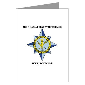 AMSCC - M01 - 02 - DUI - Army Management Staff College Students with Text - Greeting Cards (Pk of 20)