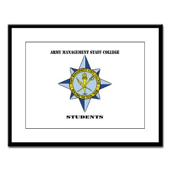 AMSCC - M01 - 02 - DUI - Army Management Staff College Students with Text - Large Framed Print