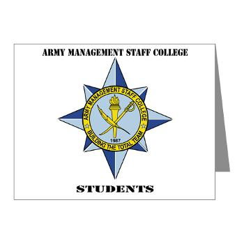 AMSCC - M01 - 02 - DUI - Army Management Staff College Students with Text - Note Cards (Pk of 20)