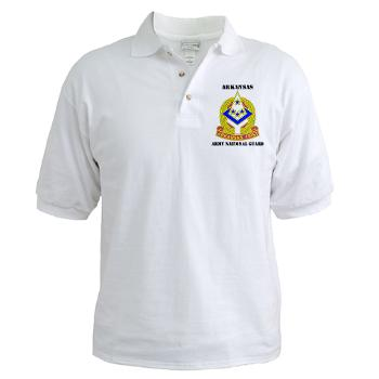 ARARNG - A01 - 04 - DUI - Arkansas Army National Guard With Text - Golf Shirt