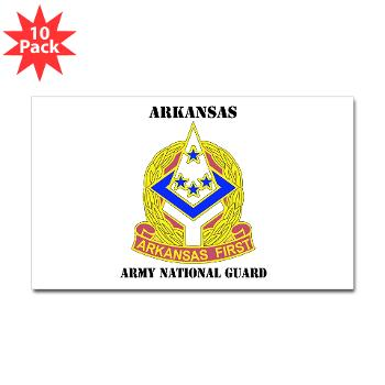 ARARNG - M01 - 01 - DUI - Arkansas Army National Guard With Text - Sticker (Rectangle 10 pk)