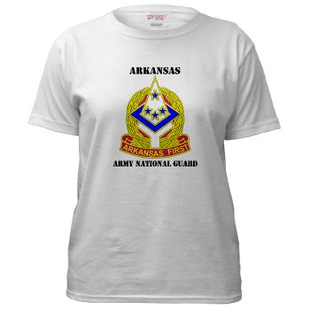 ARARNG - A01 - 04 - DUI - Arkansas Army National Guard With Text - Women's T-Shirt