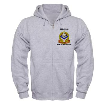 ARARNG - A01 - 03 - DUI - Arkansas Army National Guard With Text - Zip Hoodie