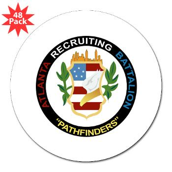 "ARB - M01 - 01 - DUI - Atlanta Recruiting Bn 3"" Lapel Sticker (48 pk)"