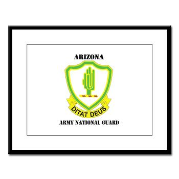 ARIZONAARNG - M01 - 02 - DUI - Arizona Army National Guard with Text Large Framed Print