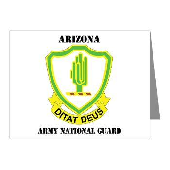 ARIZONAARNG - M01 - 02 - DUI - Arizona Army National Guard with Text Note Cards (Pk of 20)