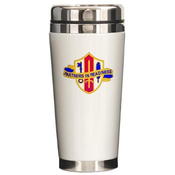 ARJSTSC - M01 - 03 - DUI - ARMY Reserve Joint and Special Troops Support Command - Ceramic Travel Mug