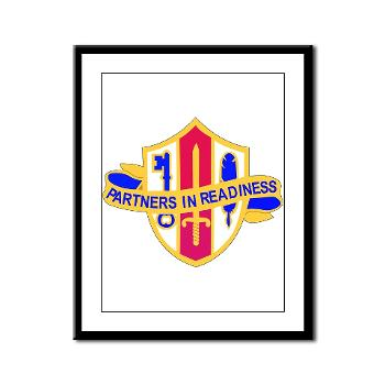 ARJSTSC - M01 - 02 - DUI - ARMY Reserve Joint and Special Troops Support Command - Framed Panel Print