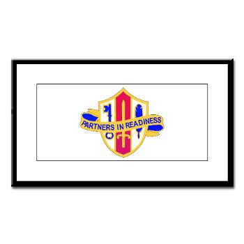 ARJSTSC - M01 - 02 - DUI - ARMY Reserve Joint and Special Troops Support Command - Small Framed Print