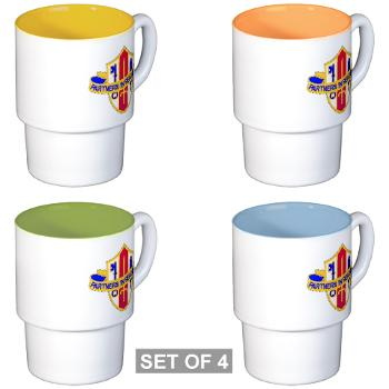 ARJSTSC - M01 - 03 - DUI - ARMY Reserve Joint and Special Troops Support Command - Stackable Mug Set (4 mugs)