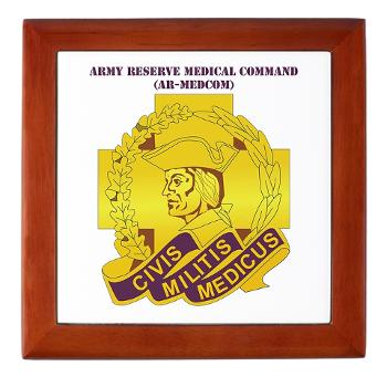 ARMC - M01 - 03 - DUI - Army Reserve Medical Command with Text Keepsake Box