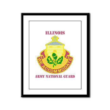 ARNGILLINOIS - M01 - 02 - DUI - ILLINOIS ARNG with Text - Framed Panel Print