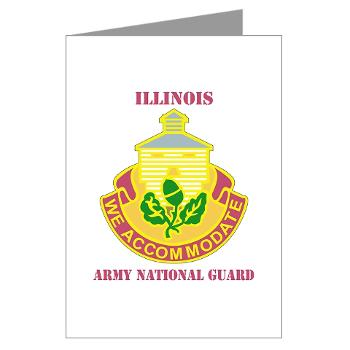 ARNGILLINOIS - M01 - 02 - DUI - ILLINOIS ARNG with Text - Greeting Cards (Pk of 10)