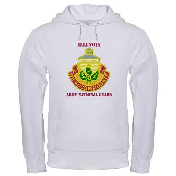 ARNGILLINOIS - A01 - 03 - DUI - ILLINOIS ARNG with Text - Hooded Sweatshirt