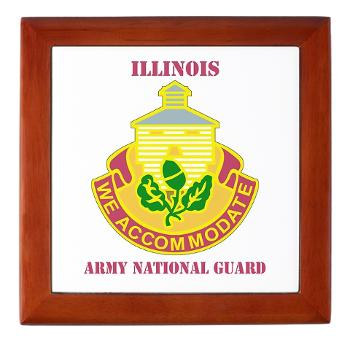 ARNGILLINOIS - M01 - 03 - DUI - ILLINOIS ARNG with Text - Keepsake Box