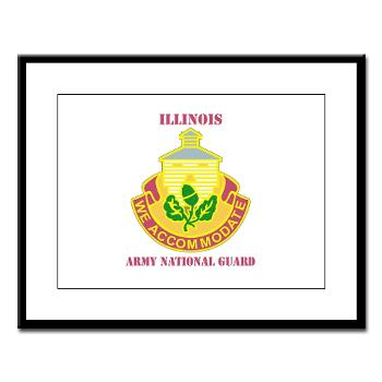 ARNGILLINOIS - M01 - 02 - DUI - ILLINOIS ARNG with Text - Large Framed Print
