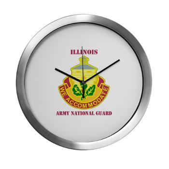 ARNGILLINOIS - M01 - 03 - DUI - ILLINOIS ARNG with Text - Modern Wall Clock