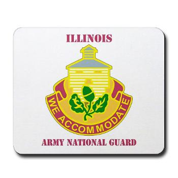 ARNGILLINOIS - M01 - 03 - DUI - ILLINOIS ARNG with Text - Mousepad