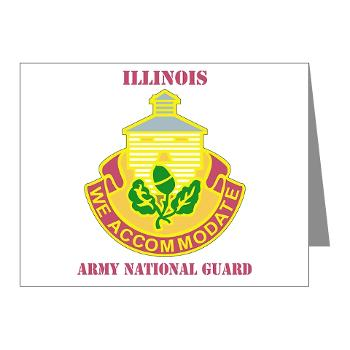 ARNGILLINOIS - M01 - 02 - DUI - ILLINOIS ARNG with Text - Note Cards (Pk of 20)