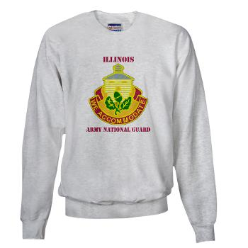 ARNGILLINOIS - A01 - 03 - DUI - ILLINOIS ARNG with Text - Sweatshirt