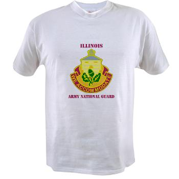ARNGILLINOIS - A01 - 04 - DUI - ILLINOIS ARNG with Text - Value T-shirt