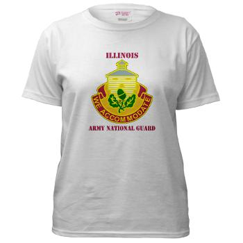 ARNGILLINOIS - A01 - 04 - DUI - ILLINOIS ARNG with Text - Women's T-Shirt