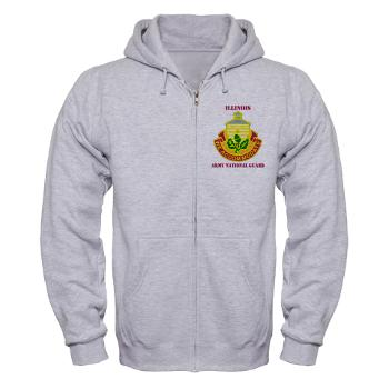 ARNGILLINOIS - A01 - 03 - DUI - ILLINOIS ARNG with Text - Zip Hoodie