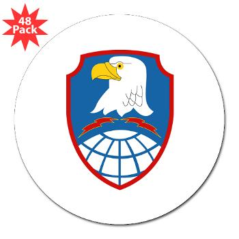 "ASMDC - M01 - 01 - SSI - US - Army Space & Missile Defense Command - 3"" Lapel Sticker (48 pk)"