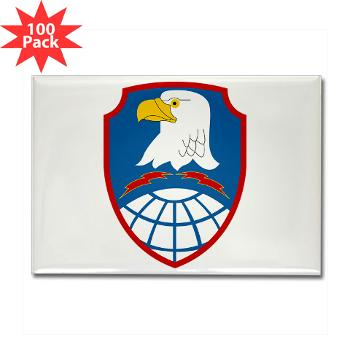ASMDC - M01 - 01 - SSI - US - Army Space & Missile Defense Command - Rectangle Magnet (100 pack)