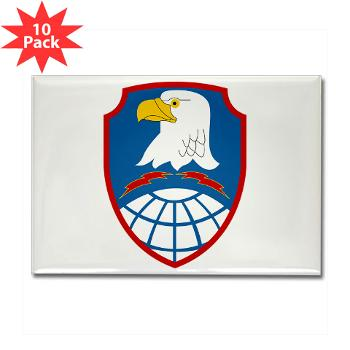 ASMDC - M01 - 01 - SSI - US - Army Space & Missile Defense Command - Rectangle Magnet (10 pack)