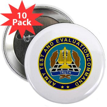 "ATEC - M01 - 01 - U.S. Army Test and Evaluation Command (ATEC) - 2.25"" Button (10 pack)"