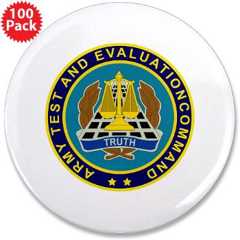"ATEC - M01 - 01 - U.S. Army Test and Evaluation Command (ATEC) - 3.5"" Button (100 pack)"