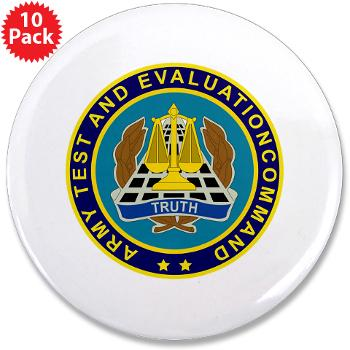 "ATEC - M01 - 01 - U.S. Army Test and Evaluation Command (ATEC) - 3.5"" Button (10 pack)"