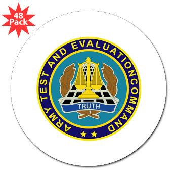 "ATEC - M01 - 01 - U.S. Army Test and Evaluation Command (ATEC) - 3"" Lapel Sticker (48 pk)"