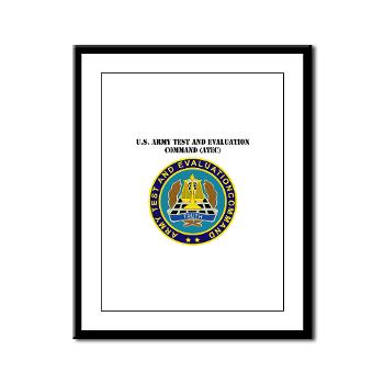 ATEC - M01 - 02 - U.S. Army Test and Evaluation Command (ATEC) with Text - Framed Panel Print
